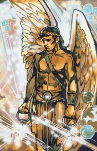 The angel holds the keys to the bottomless pit