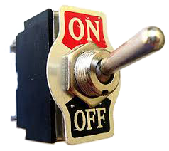 Your prayers are like this on/off switch just leave them on